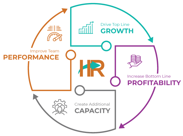 Drive Top Line Growth, Increase Bottom Line Profitability, Create Additional Capacity, Improve Team Performance